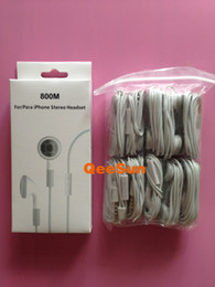 Wholesale Cheap Handsfree Earphones - Cheap Earphone W  Mic For Apple IPhone 5 5G 5S 5C 4S 3GS IPod IPad 2 3 4 Earbuds Headset Handsfree White With Retail Package Box DHL 100pcs