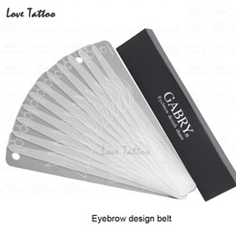 Wholesale Eyebrow Stencils Make Up - Wholesale- 12 Different eyebrow template Magic Eyebrow Stencil Eye Brow Template Make Up Tool perfect shape Eyebrow design belt
