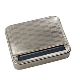 Wholesale Rolling Tobacco Tins - Automatic Metal Cigarette Roller Box Tobacco Rolling Case Cigarette Roller Maker Tin for 78mm Papers