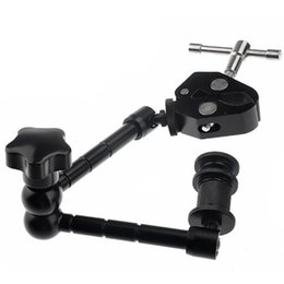 Wholesale Articulating Clamp - New Hot Super Clamp 11 inches magic articulated arm for mounting HDMI Monitor LED Light LCD Video Camera Flash Camera DSLR