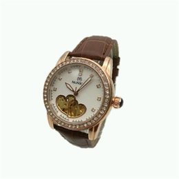 Wholesale guangzhou leather - IPG Woman's Watch Automatic Mechanical Leather Strap Fashionable Hollow Watch Guangzhou Luxury Jewelry Brand Hot Watch