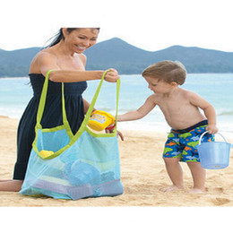 Wholesale Towel Nappies - New Arrive Applied Enduring Children sand away beach mesh bag Children Beach Toys Clothes Towel Bag baby toy collection nappy wa3587