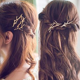 Wholesale China Headdresses - Geometric Metal Women Gold Silver Scissors HairPins Shears Clip For Hair Tiara Barrettes Headdress Head Jewelry