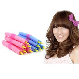 Wholesale Curl Rollers For Curling Hair - 12pcs Curler Makers Soft Foam Bendy Twist Curls DIY Styling Hair Rollers Tool for Women Accessories
