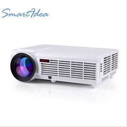 Wholesale Enjoy Tv - Wholesale-Free shipping Best HD LED Home theater projetor LED96 1280*800 5500lumens with 2HDMI 2USB VGA AV TV enjoy big screen movie
