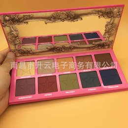 Wholesale Easy Skin - New Jeffree star androgyny palette 10colors eyeshadow Five star eye shadow skin frost eyes highlighters makeup Matte