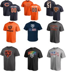 Wholesale Pink Color Bear - Chicago Bear 10 Mitchell Trubisky #34 Walter Payton #13 Kevin White 23 Kyle Fuller name and number T-shirt