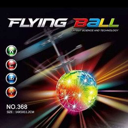 Wholesale Remote Control Aircraft Rc - Toys RC Helicopter Flying Induction LED Noctilucent Ball Quadcopter Drone Sensor Suspension Remote Control Aircraft Kids Gift