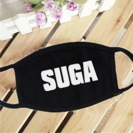 Wholesale Hope Black - 12PCS LOT Fashion High-Quality Wholesale KPOP BTS Mouth Mask Jung Kook V SUGA J-Hope Jimin Bangtan Boys Muffle