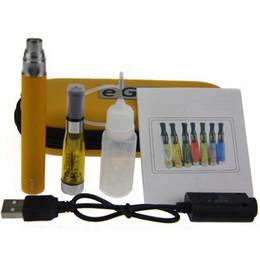 Wholesale Ego T Black Case - CE4 eGo Starter kit Zipper case packing single kit CE4 Atomizer Clearomizer ego t 650mah 900mah 1100mah battery electronic cigarette