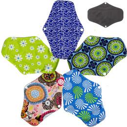 Wholesale Sanitary Napkins Bamboo - Asenappy Resuable Leakproof Charcoal Bamboo Cloth Sanitary Napkins Towel Menstrual Pads Liner BP1