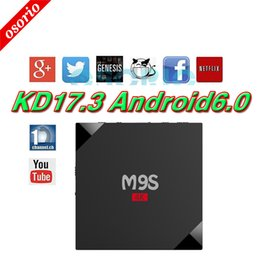 Wholesale Google Smart Tv Wholesale Price - Best Price M9S V5 4K Smart Android 6.0 TV Box RK3229 Quad Core 1GB 8GB Media Player Fully Loaded KD17.3 Jarvis Better X96 M8S MXQ PRO TV Box