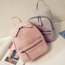 Wholesale Korea Phones - Wholesale- Women Backpack New Fashion Casual PU Leather ladies feminine backpack Candy color Korea school style solid Student mini backpack