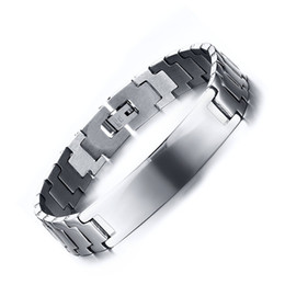 Wholesale Hand Chain Bracelet For Men - Meaeguet Fashion ID bracelets&bangles for men gold silver color charm hand link stainless steel male jewelry BR-238