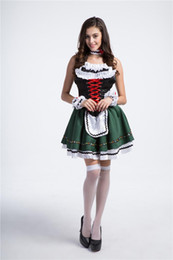 Wholesale Hot Female Maid - 2017 New multi-Size Maid Dress Oktoberfest Beer Girl Sexy Cosplay Halloween Costumes Club Performance Clothing Hot Selling