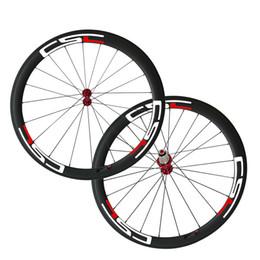 Wholesale Carbon Rims Sale - Decals Carbon Fiber Road Wheelset Clincher Wheels 50mm Depth 25mm Width R13 Hub Decal Bicycle Rims CSC Hot Sale