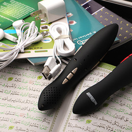 Wholesale Muslim Pen - Wholesale-Digital Quran read pen 8G Muslim Koran holy pen kids beginners Urdu, French, Spanish,English, Arabic, Malay and fast shipping