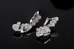 Wholesale White Chandelier Collection - ROXI Women's White Gold Plated Earring CZ Hand Made Gorgeous Earrings New Collection