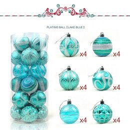 Wholesale Glitter Christmas Decorations - Free shipping Christmas decorations Wholesale-24pcs lot 6cm Christmas Tree brightly Decoration Matt Glitter Bottled Plastic Plated Ball