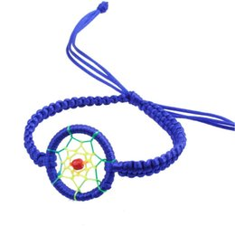 Wholesale Dream Catcher Leather Bracelets Wholesale - Wholesale-SIF 2016 New Indian Jewelry Dream Catcher Bracelet 6 Color Unisex Leather Cute Charm Campanula Dream Catcher Bracelet Gift