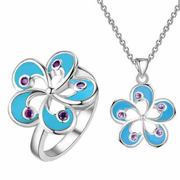 Wholesale middle east beauty - Mystic Zirconium 925 silver jewelry a of European and American flowers a new beauty jewelry wholesale