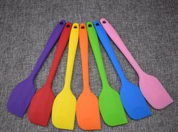 Wholesale Silicone Cakes - Wedding Candy Color Silicone Cake Spatula Batter Scraper For Snowflake Cake Tools