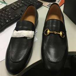 Wholesale Women Oxford Shoes Fashion Brand - Hot 2018 Women Genuine Leather Brand Flats Fashion Chain Oxford Loafers European Brand Designer Slip On Spring Autumn Luxury Mules Shoes
