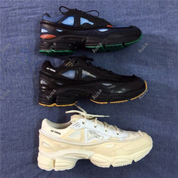 Wholesale New Arrivals Fishing - New Arrival 2017 High Quality Raf Simons X Sneakers Consortium Ozweego 2 Outdoor Running Shoes Men Woemn Red Breathable Athletic Sport Shoes