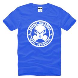 Wholesale Zombies T Shirt - Zombie Outbreak Response Team Printed Mens Men T Shirt Tshirt Fashion 2016 New O Neck Cotton T-shirt Tee Camisetas Hombre