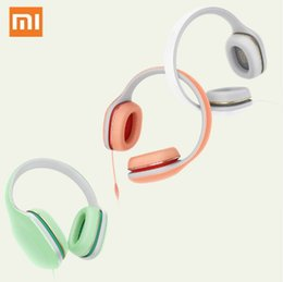 Wholesale Iphone Headphones Mic Button - Original Xiaomi Mi Headphone Easy Version With Mic Headset 3.5mm Stereo Music HiFi Earphone Button Control Headphone