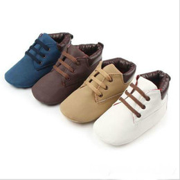 Wholesale Cross Crib - Toddler Girls Boys Lace-up Crib Shoes Newborn Baby Prewalker Soft Sole Sneakers