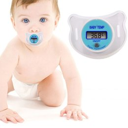 Wholesale Baby Temp - LCD Digital Thermometer Baby Temp Infant Kid Nipple Thermometer Soother Temp Mouth Health Baby Health 20 p l