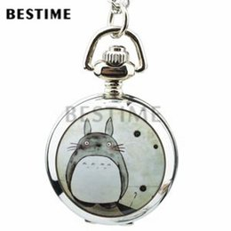 Wholesale Necklace Small Pocket Watches - 3 pieces Wholesale Small Cute Galesaur Quartz Movement Necklace Full Hunter Pendant Pocket Watch Long Chain