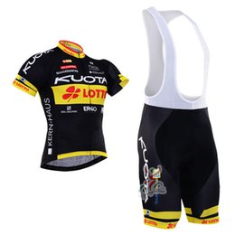 Wholesale Men Cycling Jersey Kuota - Kuota Tour De France Cycling Jersey maillot ciclismo bike clothing men MTB Bicycle jersey bib shorts silicone pad E0405