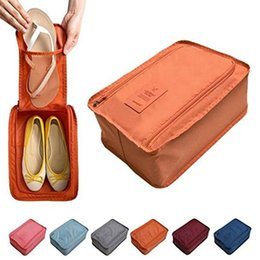 Wholesale Cube Shoes - Portable Waterproof Shoes Bag Organizer Storage Pouch Pocket Packing Cubes Handle Nylon Zipper Bag for Travel Organizer