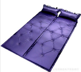 Wholesale Options Pads - Wholesale- Automatic Inflatable Cushion, with Pillow Pad Tent sleeping Mat, Moistureproof Mat, 3 colours for your option, free shipping