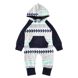 Wholesale Toddler Hoodie Wholesale - Baby Boy Clothes Boys Autumn Romper & Hat Baby Hoodies Toddler Sweatshirts with hats 0-24 Mos baby Clothing
