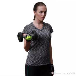 Wholesale Tight Short Sleeve T Shirts - Ladies Stretch Tight Tight Skincare T-Shirt T-Shirt Short Sleeve Fitness Wear