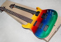 Wholesale Double Neck Electric Guitar Bass - Double Neck Electric Bass Guitar with Colorful Body,Offer Customized