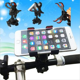 Wholesale Mounted Mtb - Universal Handlebar Bicycle MTB Motorcycle Bike Mount Holder For Mobile iphone 6 7 Galaxy S7 S8 CellPhone GPS