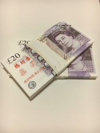Wholesale Money Plays - Earliest edition Money banknote currency GBP20 for Movie props and Education bank staff training paper children gift play money