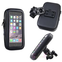 "Wholesale Universal Motorcycle Handlebars - Bike Bicycle Waterproof Handlebar Case Mount Holder Motorcycle 360 Rotating Zipper Bag Pouch For Iphone 6 Plus 5.5"" Galaxy S8 S7"