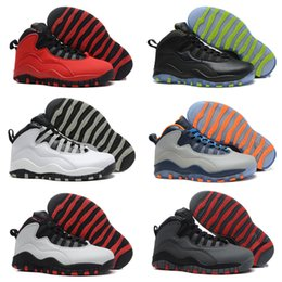 Wholesale Shipping Nyc - Retro 10 Paris NYC CHI Rio LA Hornets City Pack Vivid Pink 10s Men Basketball Shoes Sneakers Retro X Sports Shoes Free Shipping