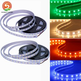 Wholesale Led Strip Lights 12v Outdoor - High bright SMD 5050 Silicone Tube led strips IP67 waterproof RGB Flexible strip 5M Roll 300 Leds DC 12V led outdoor christmas lights