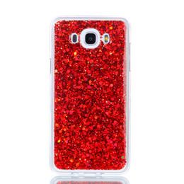 scheibe fall Rabatt Mode flash slice telefon case für samsung galaxy j710 j7 2016 abdeckung acryl weiche tpu silikon handy case für samsung j7 2016