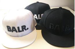 Wholesale Metal Cap Buckle - BALR baseball cap, flat along hip-hop hat leather PU metal buckle hat