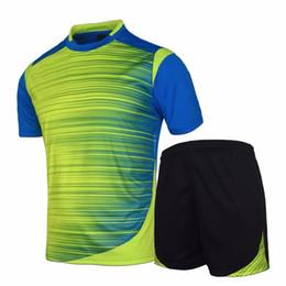 Wholesale Badminton Kit - New Badminton Jerseys Men Survetement Football Kits Thai Quality Team Training Painless Custom Sportswear Pockets on Bottoms
