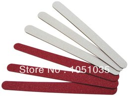 Wholesale Red Filing - Wholesale- Free Shipping red woodennail file mini emery board disposable nail file wood emery board 100 pcs lot