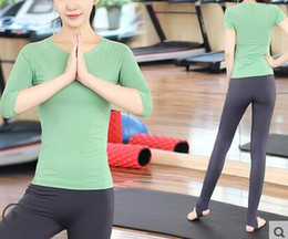 Wholesale Yoga Shirts For Women - women YOGA shirts, for fall and winter, long sleeves, indoor sports suits, yoga sets, quick dry, women vest, 2017 new arrival, high quality