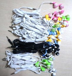 Wholesale High Quality Mp4 Wholesale - High quality 100PCS LOT Disposable Black Colorful In-Ear Earbuds Earphone For IPhone 4 5 6 Headphones MP3 MP4 3.5mm Audio DHL Free